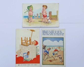 Vintage 1930s Postcards x3