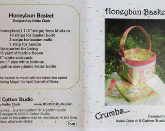 """Crumbs...K Cotton Studio ~ """"Honeybun Basket""""  #C501"""