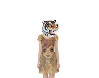 "XL ""The Hive"" Dress. Big Eyed Art Punk Rock Clothing by Megan Besmirched SALTY DAME"