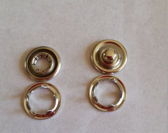 10 snap buttons 10mm round or seamless fastener
