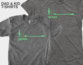 Lawnmower, Daddy and Me Shirt, Father Son, Matching Shirts, Matching Dad Son, Daddy Daughter Shirt, Dad Baby Shirt, Garden Gift Men, Grass