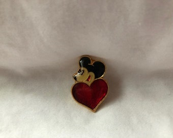 Vintage Mickey Mouse Heart Pin