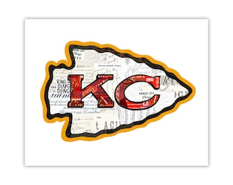Kansas City Chiefs Art Print - Collage Illustration Art Print - Home Decor