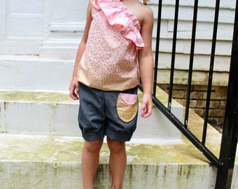 Bubble Shorts - PDF Sewing Pattern Instant Download - Sizes 12 months - 6