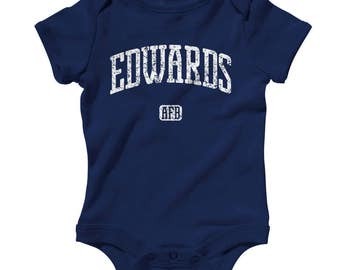 Baby One Piece - Edwards AFB California Infant Romper - NB 6m 12m 18m 24m - Baby Shower Gift, Edwards Afb Baby, USAF Baby, Air Force Base