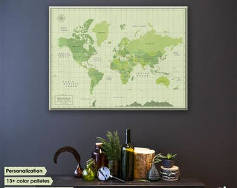 Wanderlust world map canvas push pin map world map push push pin travel map world map canvas world map canvas map art gumiabroncs Gallery