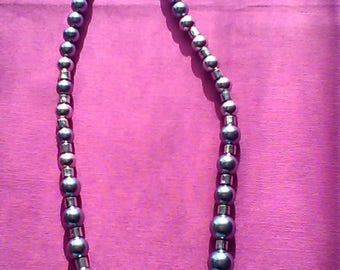 Silver beads necklace series Leila N1