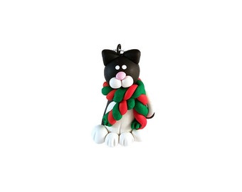 Tuxedo Cat Ornament