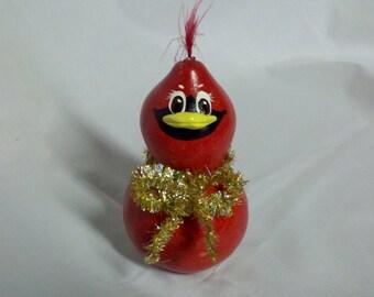 Christmas Cardinal Mini Gourd