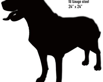 Rottweiler Silhouette Laser Cut Out Sign 24x24 RG8152B