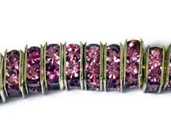Swarovski Rhinestone Squaredelle Beads 8mm -  Violet
