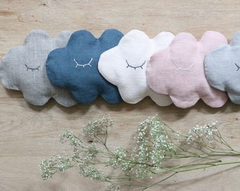 Hot/cold cloud linen embroidery eyes Nina