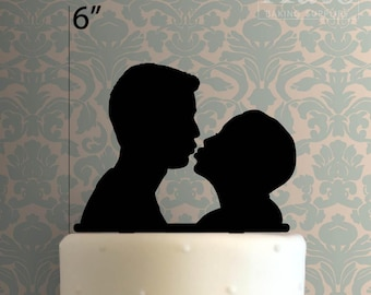 Couple Kissing 100 Cake Topper