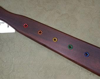 Wamara Miss Rose Paddles Spanking Paddle - THORN PADDLE - BDSM Pride Chakra Paddle WA081