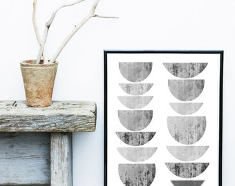 Scandinavian Art, Minimalist Art, Mid Century Modern , Abstract Art Print, Grey Wall Art,  Art Print, Giclee print, Wall Art,  Large Print