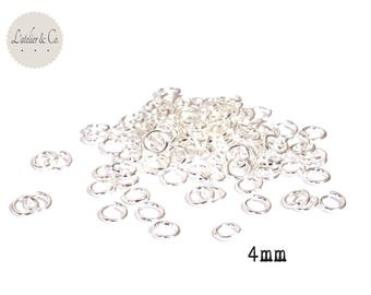 500 jump rings 4mm connectors silver plated jump rings