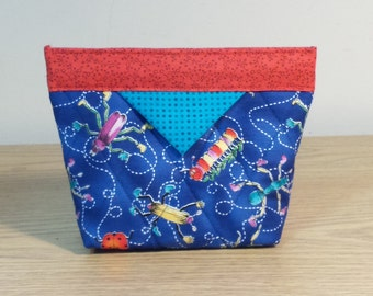 Quilted Snap Bag (SB005) Bugs