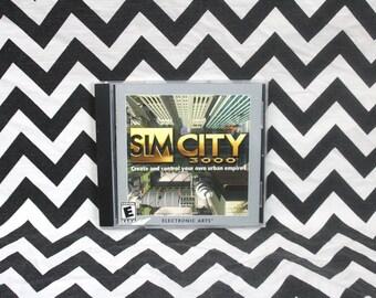 Vintage Sim City 3000 PC Game. CD Rom Computer Video Game.Windows Sim City Sims Video Game. Rare SIMs Style Video Game