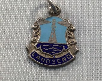 Vintage Sterling Silver Charm Landsend Souvenir Cornwall England Lngships Lighthouse for your Bracelet or Pendant
