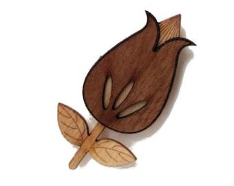 Multi Layered Ply Wood Brooch