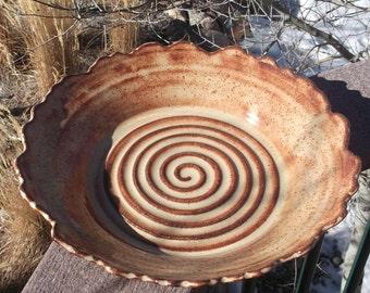 Platter Rocky Mountain - Large Serving Platter or Fresh Fruit Bowl - Handmade