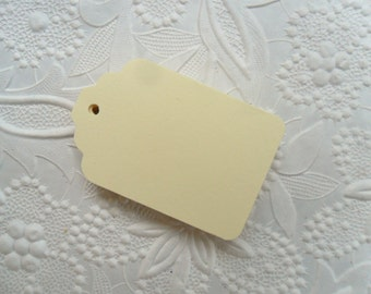 25 Cream Gift Tags-50 or 100 Gift Tags-Hang Tags-Price Tags-Blank-Craft Punch