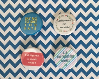 HBO Girls Quotes Pinback Buttons