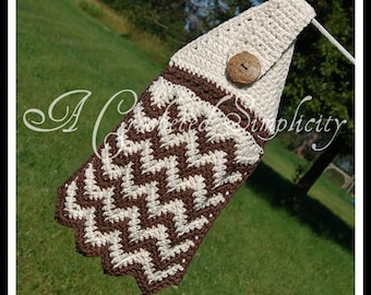 """Crochet Pattern: """"Chasing Chevrons"""" Dish Towel, Permission to Sell Finished Items"""