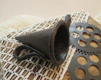 Vintage Industrial Salvage - Cast Iron Cone Mold - Industrial Decor - Assemblage Art - Garden Decor