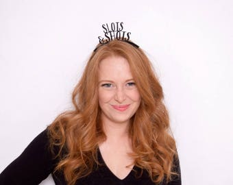 Las Vegas Trip Party Crowns - Las Vegas Party - Vegas Bachelorette - 21st Birthday - Casino Party - Queen of Hearts - Vegas Baby