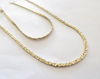 14K GP Necklace - Bracelet Jewelry Set