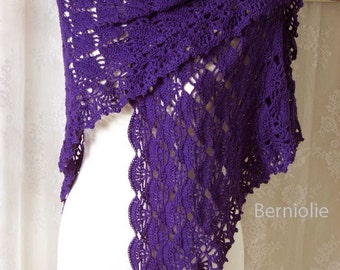 LAUREN, Crochet shawl pattern pdf