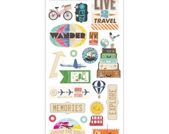 Momenta Little Yellow Bicycle Foam Stickers-Live 2 Travel