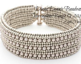 Herringbone Bangle Bracelet Kit in Light Pewter