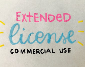 Art for Extended License and Commercial use