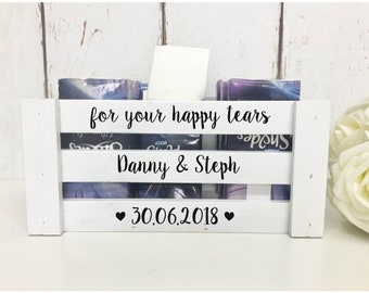 Happy Tears |Happy Tears Crate | Wedding Favours |Happy Tears Basket |Wedding Basket|Hospitality Basket |Flipflop Basket |Personalised Crate
