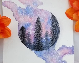 Forest Galaxy Painting