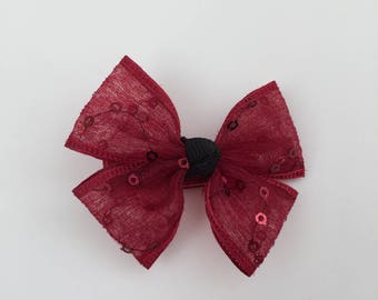 Red Lace Hair Bow-knot - Girls Hair Clip - Baby Girl Hair Clips - Kids Hair Clips