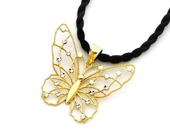 14kt. Gold Two tone Butterfly charm