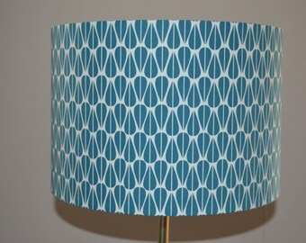 Lampshade, lamp shade, teal lampshade, geometric lamp shade, scandi lampshade, ceiling lamp shade, table lamp shade, scandi lamp shade