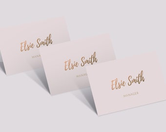 Gold Business Card Design, Pink Business Card, Gold Foil, Business Card Template, Premade Business Card, Beauty Business, Beauty Consultant