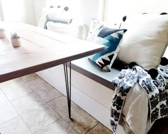Made to Order Modern Shiplap Banquette Bench