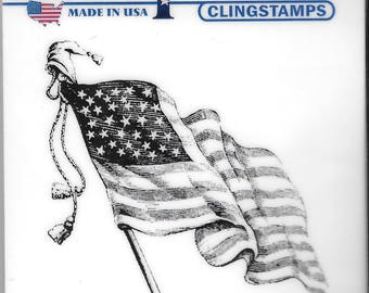 Deep Red Cling Stamps -- Old Glory -- NEW -- (#2530)