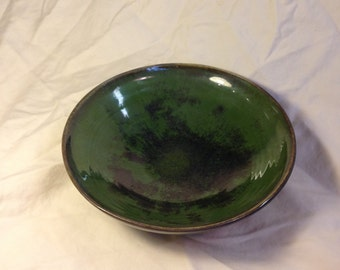 Green and black bowl