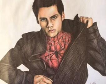 Original Dylan O'Brien, Spider-Man no.2 Drawing