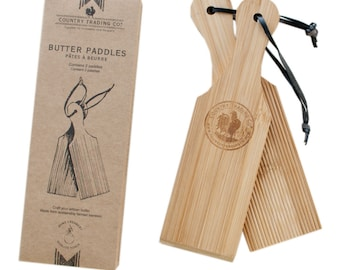 Country Trading Co. FSC Wooden Butter Paddles