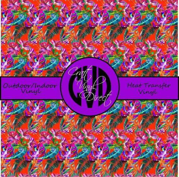 Tropical Patterned Vinyl // Patterned / Printed Vinyl // Outdoor and Heat Transfer Vinyl // Pattern 746