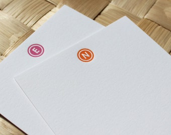 Personalized Letterpress Monogram Note Cards