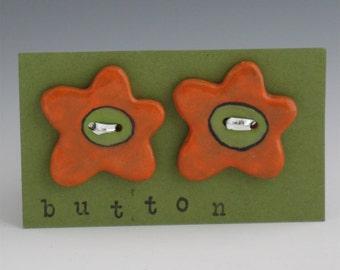 Ceramic Buttons, Buttons Ceramic, Children's Buttons, Flower Buttons, Knitting