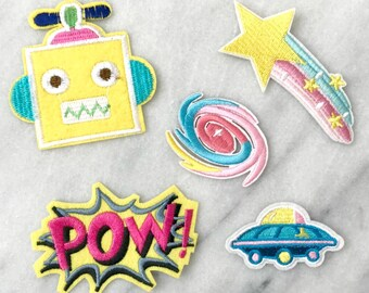 POW - Set of 5 Embroidered Patches